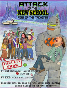Attack of the New School: Rise of the Machines – this Saturday at 7:30!