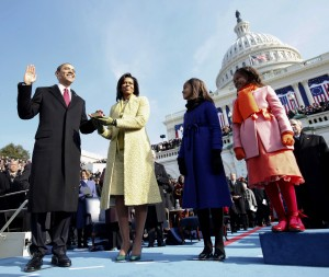 Obama's second inauguration looks forward