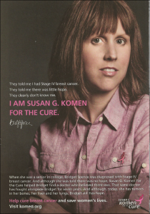 Honoring Bridget Spence through Susan G. Komen: a Life Lived with Goodwill, Honesty, and Awareness