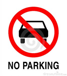 No Parking, In Place Tomorrow