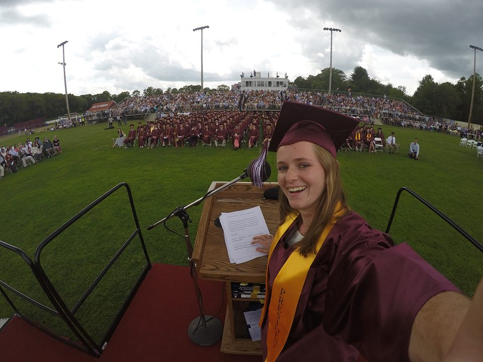 Senior Class President Jillian Sweeney's epic graduation selfie from her Facebook page - it has over 500 likes!