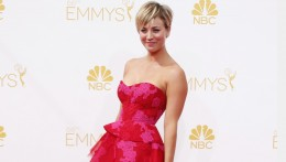"""Kaley Cuoco-Sweeting from the CBS sitcom """"The Big Bang Theory"""" arrives at the 66th Primetime Emmy Awards in Los Angeles, California August 25, 2014.  REUTERS/Lucy Nicholson (UNITED STATES -Tags: ENTERTAINMENT)(EMMYS-ARRIVALS) - RTR43Q0Z"""