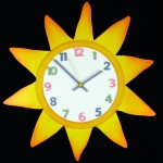 accessories-kids-bedroom-comely-children-clock-for-wall-decoration-using-yellow-sun-kid-clocks-fetching-wall-decoration-in-kid-bedroom-using-children-and-kid-clocks