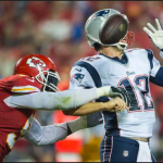 Brady getting strip sacked during the last meeting between these two teams, a 41-14 lobsided victory by the Chiefs