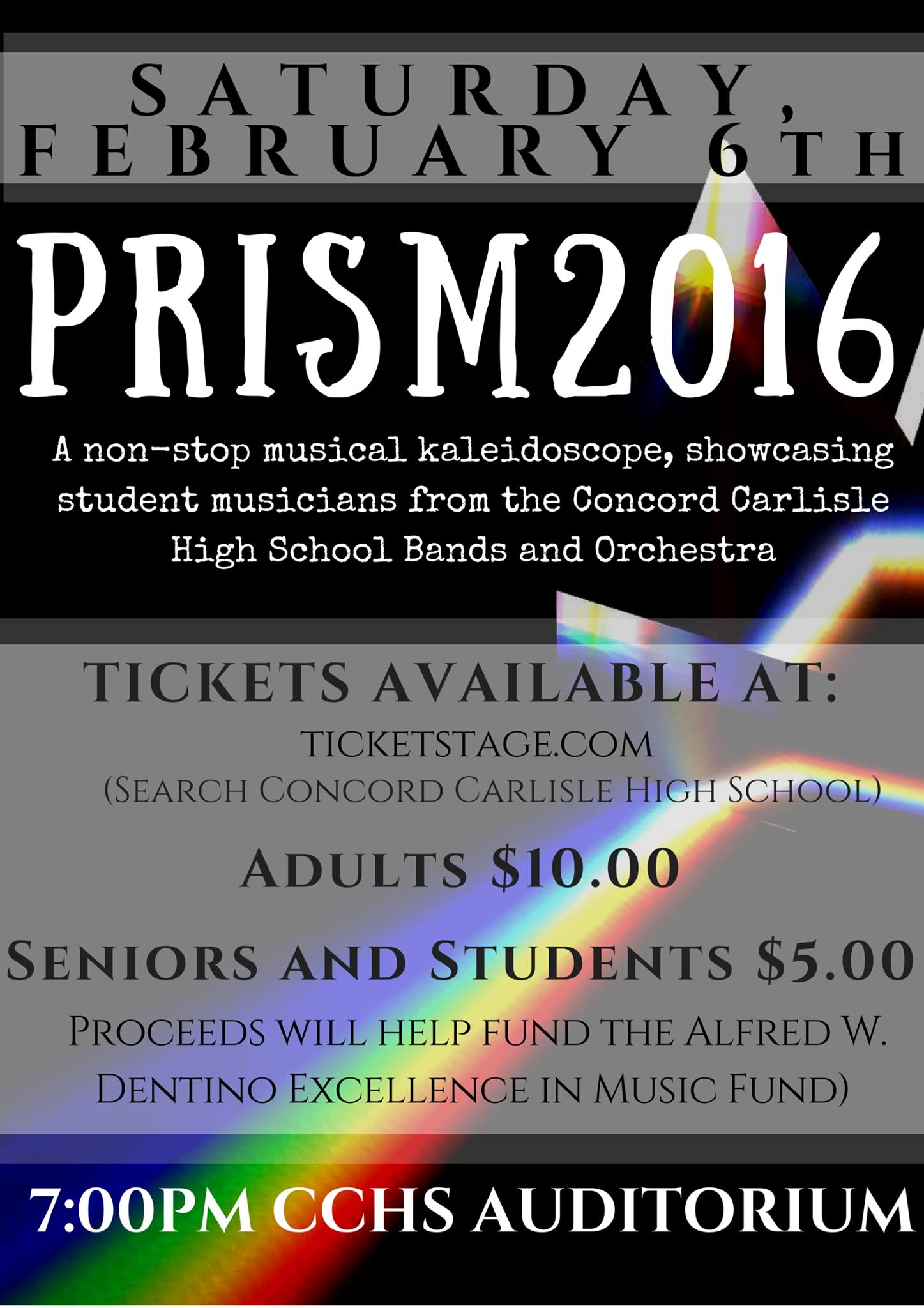 CCHS Bands and Orchestras Present: PRISM