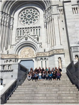 CCHS French students at St. Anne's Basilica in Québec City on Spring Break. April 17, 2016